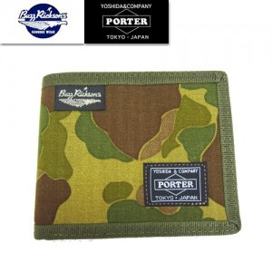 BR02659 BUZZ RICKSONS×PORTER コラボ 「CAMOUFLAGE WALLET」
