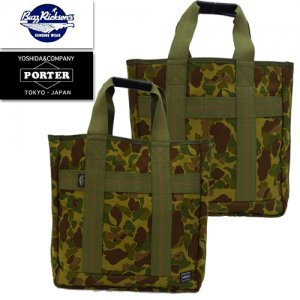 BR02661 BUZZ RICKSONS×PORTER コラボ 「CAMOUFLAGE TOTE BAG」