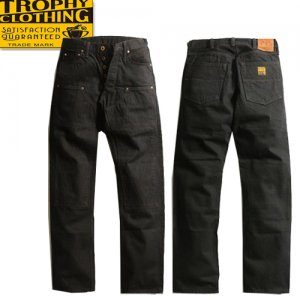 1908 13.5oz W KNEE NARROW BLACKIE DENIM