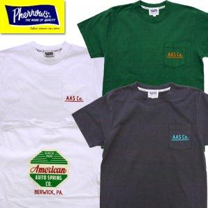 21S-PPT1 「American」ポケット付きロゴプリントTシャツ