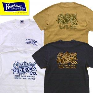 21S-PTJ2 「PHERROW'S CO.」ロゴプリントTシャツ
