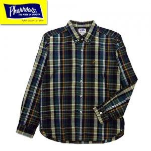 21S-PBD2 マドラスチェックボタンダウンシャツ