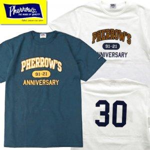 21S-PTP1-30th 30thアニバーサリーアイテム ロゴ刺繍プリントTシャツ