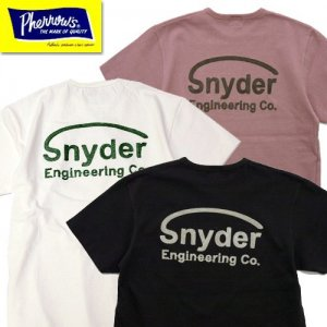 21S-PTP3「snyder」チェーン刺繍ロゴTシャツ