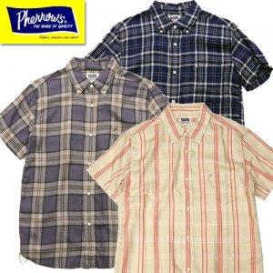 21S-PBDS3 半袖チェックボタンダウンシャツ