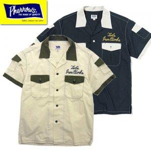 21S-P2WS1 2トーン半袖ワークシャツ
