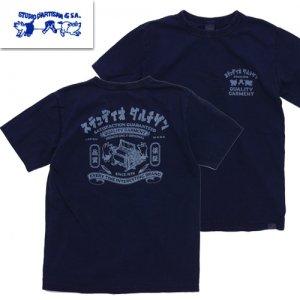 再入荷!8033A インディゴプリントTシャツ