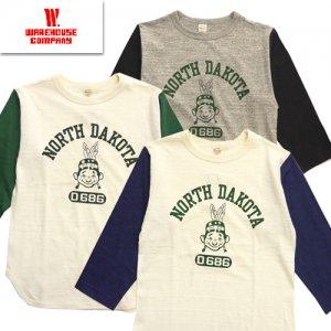 Lot4800 「NORTH DAKOTA」 七分袖ベースボールTシャツ