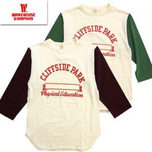 Lot4800 「CLIFFSIDE PARK」 七分袖ベースボールTシャツ