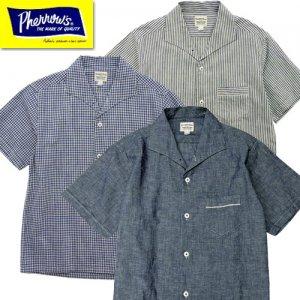21S-PICS1 インディゴイタリアンカラー半袖シャツ