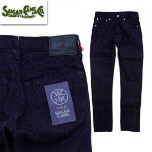 SC41201 砂糖黍 阿波藍混 13oz DENIM SLIM FIT MODEL