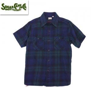 SC38692 綿麻 ツイルチェック ワークシャツ