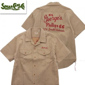 SC38710 COKE STRIPE WORK SHIRT with EMBROIDERED