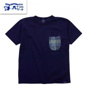 8036IND NORAGI SASHIKO ポケットTシャツ
