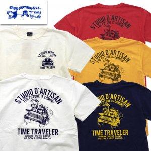 8040A「TIME TRAVELER」 USAコットン プリントTシャツ