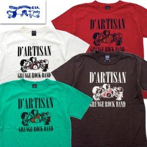 8041B 「GRUNGE ROCK BAND」 USAコットン プリントTシャツ