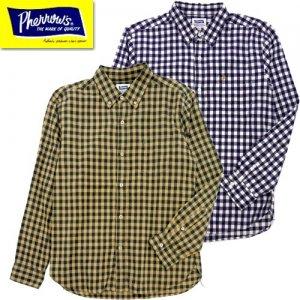 21W-PBD2-CH ギンガムチェックボタンダウンシャツ