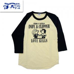 8045B ラグラン7分Tシャツ[INDY & CLIPPER]