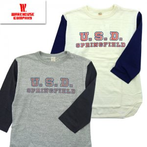 Lot4800 「U.S.D.」 七分袖ベースボールTシャツ