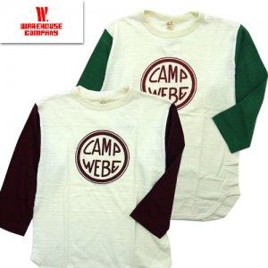 Lot4800 「CAMP WEBE」 七分袖ベースボールTシャツ