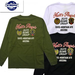 BR68829 303rd BOMB GROUP プリント長袖Tシャツ
