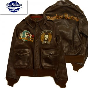 BR80588 TYPE A-2 ROUGH WEAR CLOTHING CO. 23rd BOMB SQ BOMBER BARONS