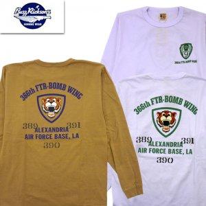 BR68827 366th FTR-BOMB WING プリント長袖Tシャツ